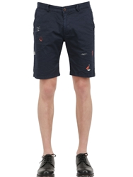 Bob Strollers Light Stretch Cotton Twill Shorts Navy