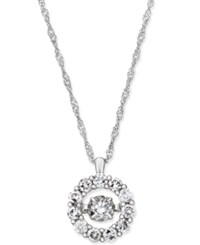 Macy's Diamond Double Circle Pendant Necklace 1 2 Ct. T.W. In 14K White Gold