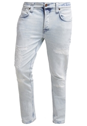 Nudie Jeans Grim Tim Slim Fit Jeans Ripped Sea Destroyed Denim
