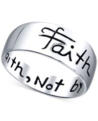 Unwritten Engraved Faith Ring In Sterling Silver