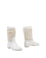 Fiorangelo Ankle Boots Ivory