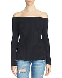 1.State Off The Shoulder Sweater Rich Black