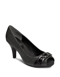 Aerosoles Good Lux Open Toe Pumps Black