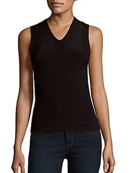 Narciso Rodriguez Solid V Neck Tank Black