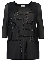 Windsmoor Sequin Mesh Tunic Black