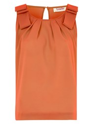Louche Vern Pleat Front Top Orange