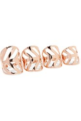 Arme De L'amour Set Of Five Rose Gold Plated Rings