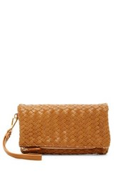 Urban Expressions Dixie Faux Leather Wristlet Clutch Brown