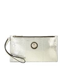 Versus By Versace Versus Versace Snake Effect Leather Pouch Female