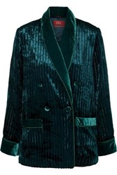F.R.S For Restless Sleepers Ate Quilted Velvet Shirt Emerald
