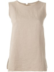 Majestic Filatures Loose Fit Tank Women Cotton Linen Flax Ii Nude Neutrals