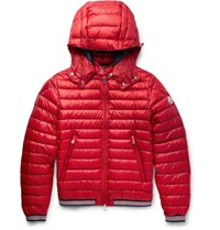 Moncler Vidal Quilted Shell Down Jacket Red