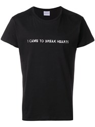 Nasaseasons 'I Came To Break Hearts' Embroidered T Shirt Black