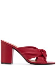 Via Roma 15 Knot Front Heeled Sandals Red