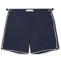 Orlebar Brown Bulldog Mid Length Contrast Trimmed Swim Shorts Navy