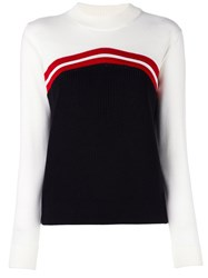 Maison Kitsune Mock Neck Jumper White