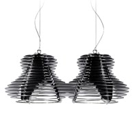 Slamp Faretto Double Pendant Black Silver