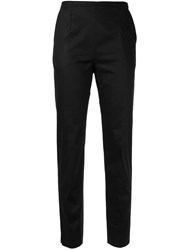 Paule Ka Tapered Cigarette Trousers Black