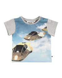 Molo Eddie Hover Cars Printed T Shirt Size 6 24 Months Multi