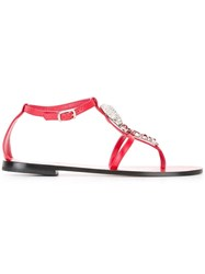 Philipp Plein Lorient Sandals Red