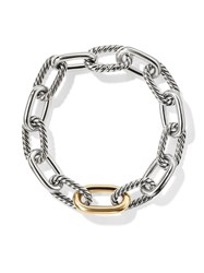 David Yurman 18Kt Yellow Gold Detail Dy Madison Medium Bracelet S8