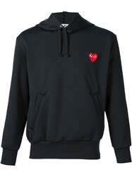 Comme Des Gara Ons Play Heart Application Hoodie Black