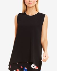 Vince Camuto High Low Tunic Rich Black