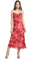 C Meo Collective Variation Midi Dress Hot Pink Rose
