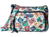Vera Bradley Little Hipster Cuban Stamps Cross Body Handbags Multi