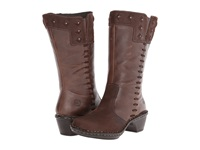 Lobo Solo Roxie Wide Calf Chocolate Leather Women's Wide Shaft Boots Brown