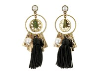 Oscar De La Renta Tassel Charm P Earrings Black