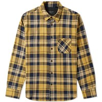 Rag And Bone Check Overshirt Yellow