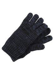 Bickley Mitchell Gloves Navy Twist Mottled Dark Blue