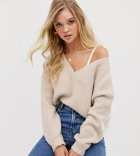 Micha Lounge Luxe Relaxed Jumper In Wool Blend Beige