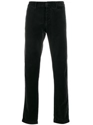 Massimo Alba Straight Leg Velvet Trousers Black