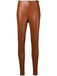 Dorothee Schumacher Leather Effect Leggings Brown