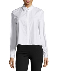 Zac Posen Fabia Button Front Blouse White