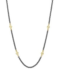 Armenta 18K Yellow Gold And Blackened Sterling Silver Old World Cable Chain Necklace 18 Black Gold