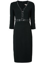 Michael Kors Laced Eyelet Dress Black