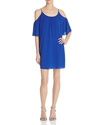 French Connection Polly Plains Cold Shoulder Dress Monarch Blue