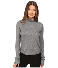 See By Chloe Jersey Turtleneck With Sheer Back Grey