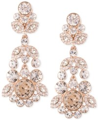 Givenchy Ornate Crystal Chandelier Earrings Pink