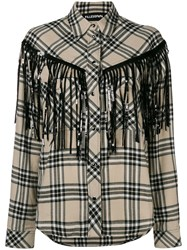 Filles A Papa Fringed Shirt Nude And Neutrals