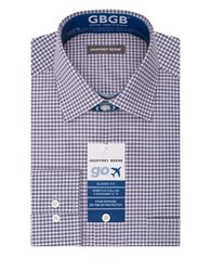 Geoffrey Beene Gingham Print Dress Shirt English Violet