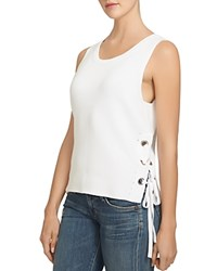1.State Lace Up Side Cotton Tank Cloud