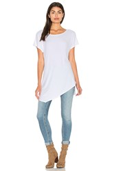 Michael Stars 2X1 Wide Neck Asymmetrical Tunic White