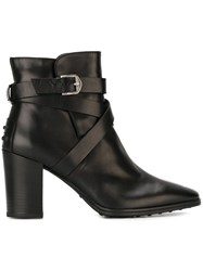 Tod's Strappy Boots Black