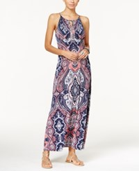 Inc International Concepts Petite Embellished Keyhole Maxi Dress Only At Macy's Couture Pasiley