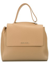 Orciani Flap Shoulder Bag Nude Neutrals