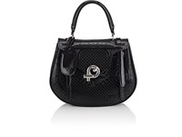 Fontana Milano 1915 Mimosa Medium Leather Satchel Black